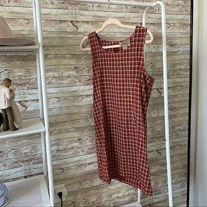 VINTAGE Abercrombie & Fitch Plaid Shift Dress